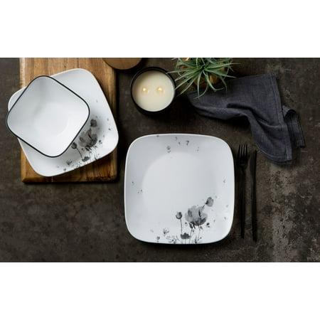 Corelle Square Fleurs Du Soir 16-piece Dinnerware Set ()