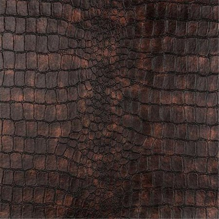 Designer Fabrics G393 54 in. Wide Bronze, Alligator Upholstery Faux Leather