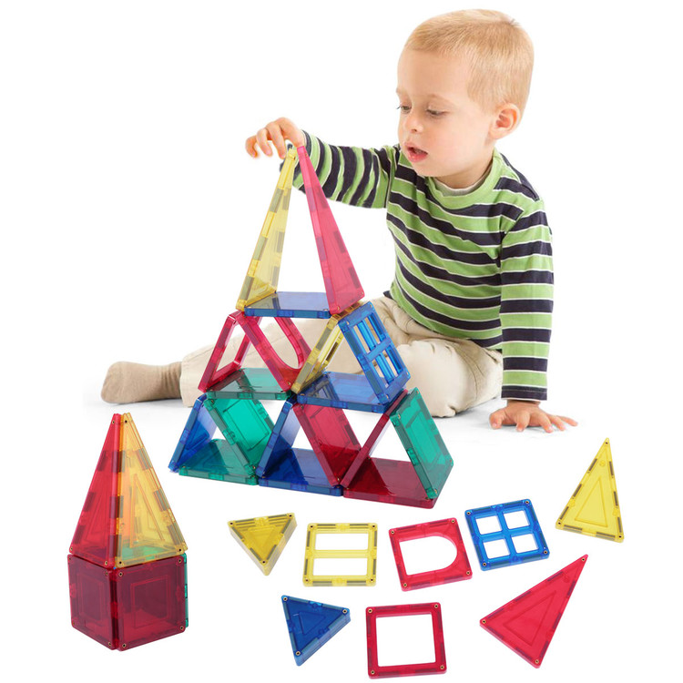 Kids 58-Piece Multi Colors Magnetic Blocks Tiles Educational 3-D Buildings STEM Toy... by Funko