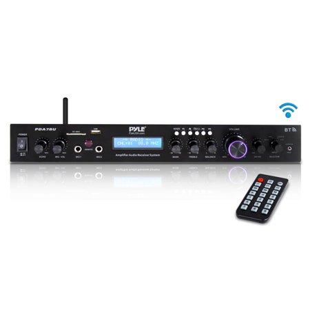 Pyle Home PDA7BU Theater Audio Receiver Sound System with Bluetooth