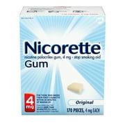 Nicorette Nicotine Gum, 4mg, Original Unflavored - 170 Count