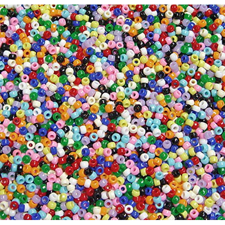 JOLLY STORE Crafts Multi Colors 6.5x4mm Mini Pony Beads, 500pc - Multi Color Beads