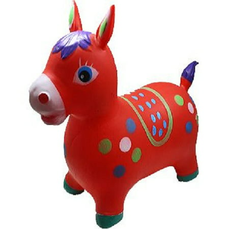 Red Donkey Animal Hoppers Children's Ride On Toy Hopper Bouncy Inflatable - Inflatable Donkey