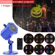 Christmas Projector Lights, Rotating IP65 Waterproof Animated Landscape Projection Light for Decoration Lighting on Christmas Halloween Holiday Party