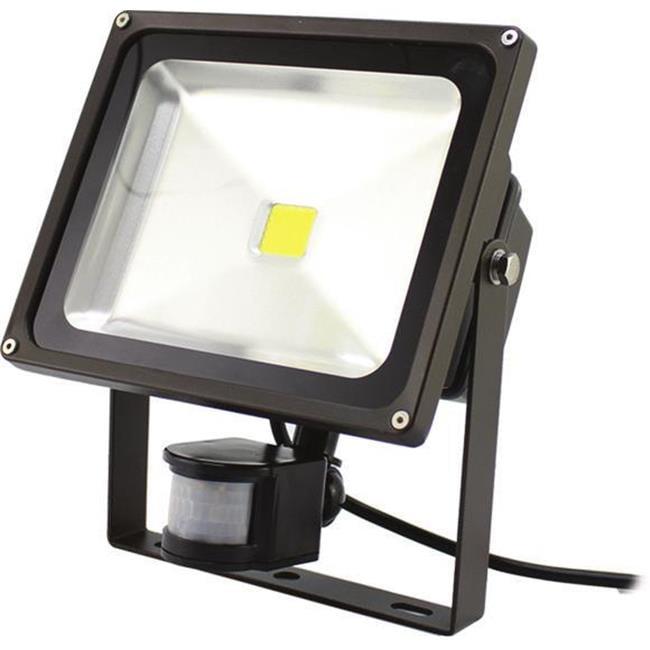 Westgate LF-20CW-P LED Flood Light With Pir Motion Sensor Dark Bronze 20 Watt Cool White