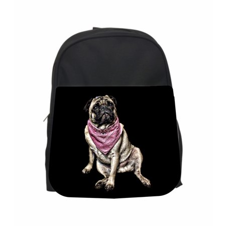 (Pug In A Bandana TM PreSchool Children's Backpack)