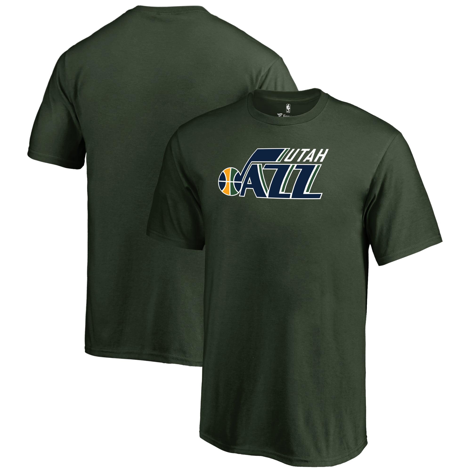 Utah Jazz Fanatics Branded Youth Primary Logo T-Shirt - Green