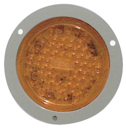 TRUCK LITE CO INC 44103Y Strobe, LED, Amber, Flange, Round, 5-1/2 Dia