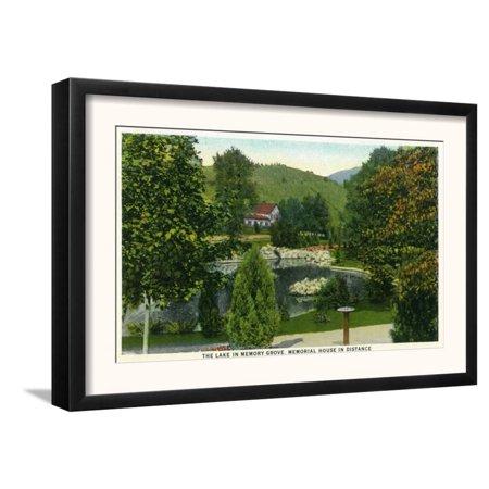 Salt Lake City, Utah - View of the Lake in Memory Grove, Me... Framed Art Print Wall