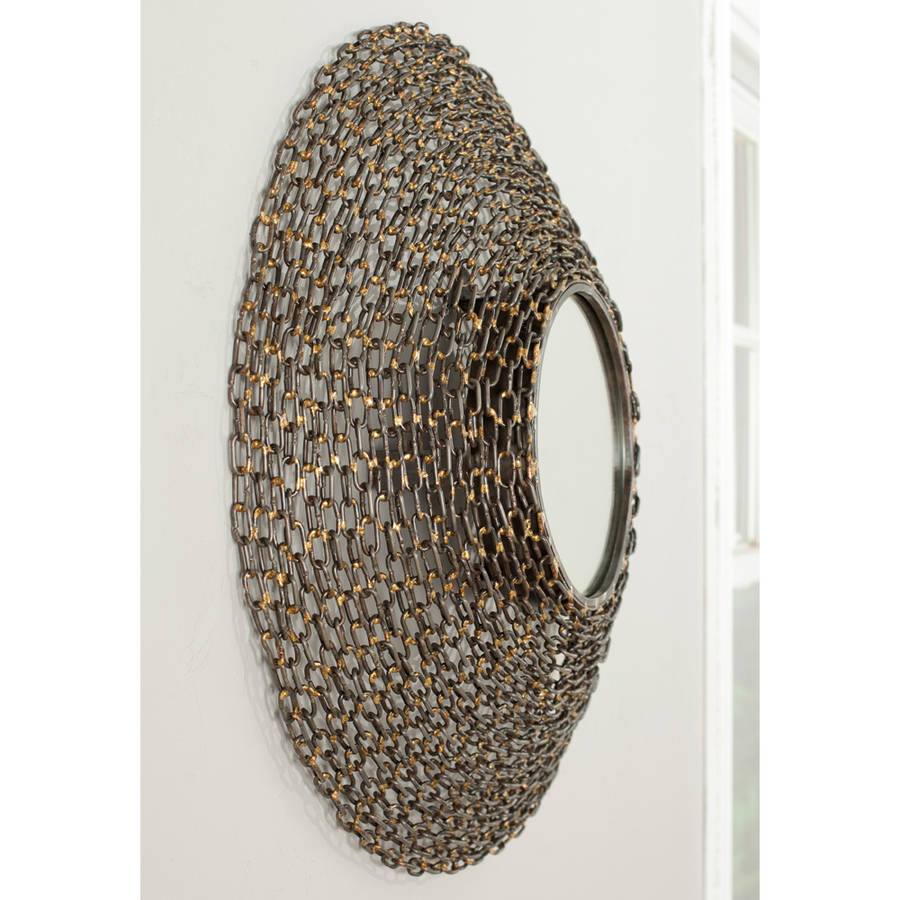 Safavieh Round Jeweled Chain Mirror