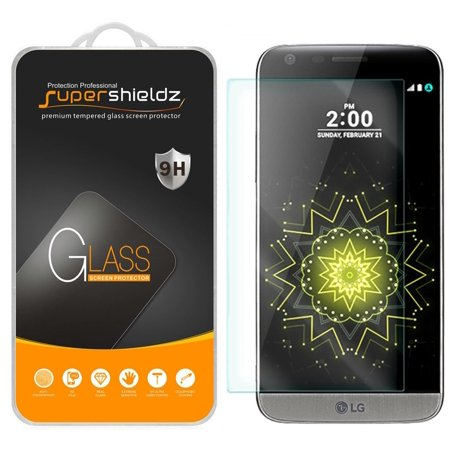[2-Pack] Supershieldz LG G5 Tempered Glass Screen Protector, Anti-Scratch, Anti-Fingerprint, Bubble Free