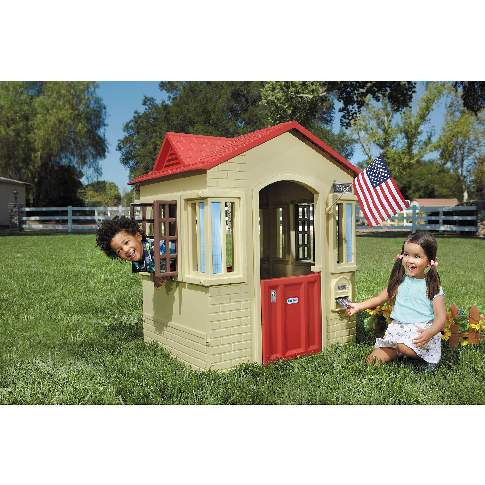 Little Tikes Cape Cottage Playhouse Tan Walmart