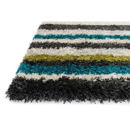 """Loloi Cosma 5'2"""" x 7'7"""" Power Loomed Rug in Green - image 1 of 2"""