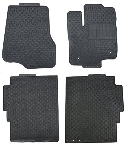 Black Rubber All Weather Floor Mats For  Ford F