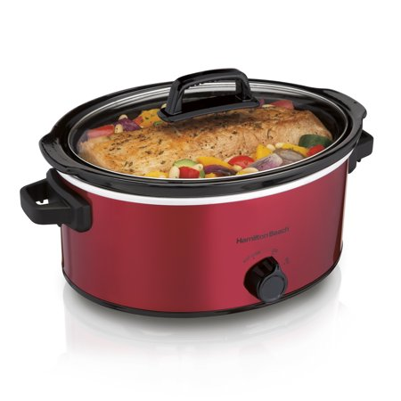 Hamilton Beach 6 Quart Slow Cooker, Red | Model# 33666