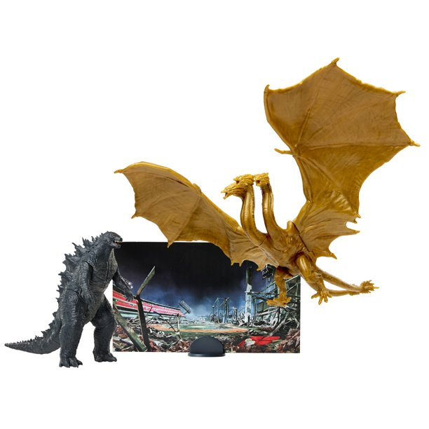 "Godzilla King of Monsters: Monster Match Up Action Figure set featuring 3.5"" King Ghidorah"