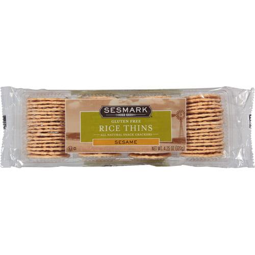 Sesmark Sesame Rice Thin Crackers, 4.25 oz, (Pack of, 12)