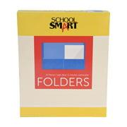 School Smart 2-Pocket Folders, Light Blue, Pack of 25