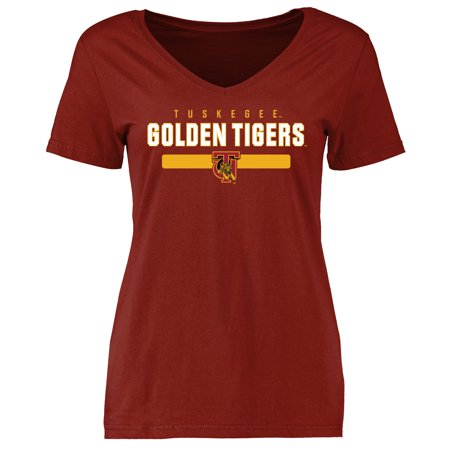 Tuskegee Golden Tigers Women's Team Strong T-Shirt - Cardinal Red Golden Tigers Eye