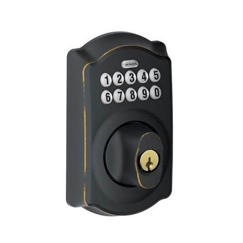 Schlage BE Series Camelot Keypad Deadbolt with Alarm and Z-Wave Technology