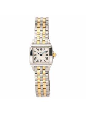 Pre-Owned Cartier Santos Demoiselle W25066Z6 Steel Women Watch (Certified Authentic & Warranty)