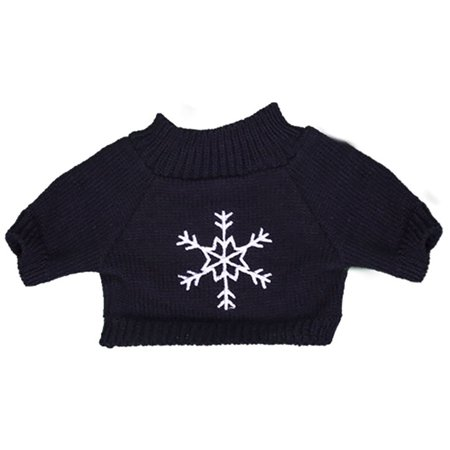 Teddy Bear Outfit For Dogs (Navy Snowflake Sweater Teddy Bear Clothes Outfit Fits Most 8