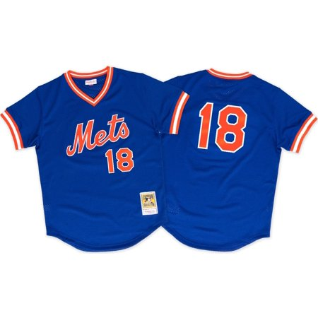 Darryl Strawberry New York Mets MLB Mitchell & Ness Authentic 1986 BP Jersey by