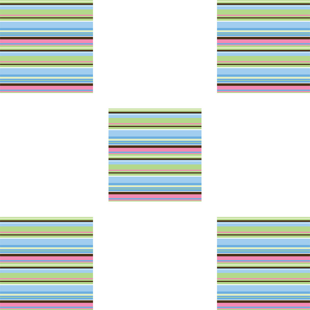 Brewster Home Fashions 12505253 Ribbon Candy Blox Square Blue Stripes Wall Accents