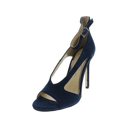 Jessica Simpson Women's Jasta Suede Azurite Ankle-High Leather Pump - 5.5M