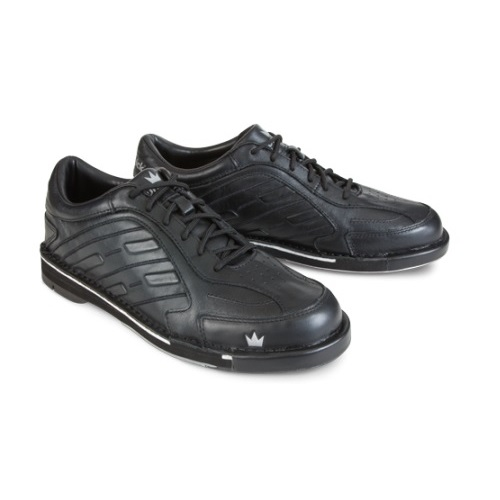 Team Brunswick Black Men's LEFT HAND Bowling Shoes, Size 8