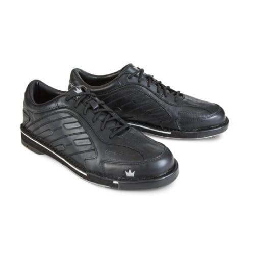Team Brunswick Black Men's LEFT HAND Bowling Shoes, Size 13