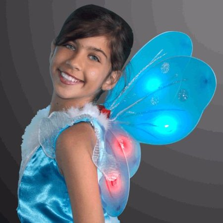Light Up Aqua Fairy Butterfly Wings](Light Up Butterfly)