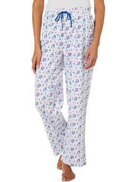 Coral Bay Womens Sailboat Print Pajama Pants