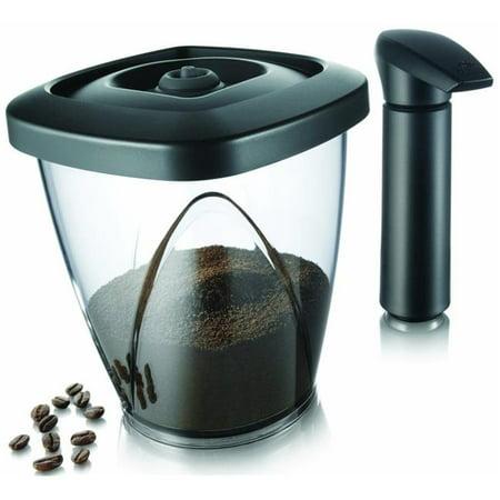 Tomorrows Kitchen 2883460 44 oz Vacuum Coffee Saver Includes Black Vacuum Pump - Gift