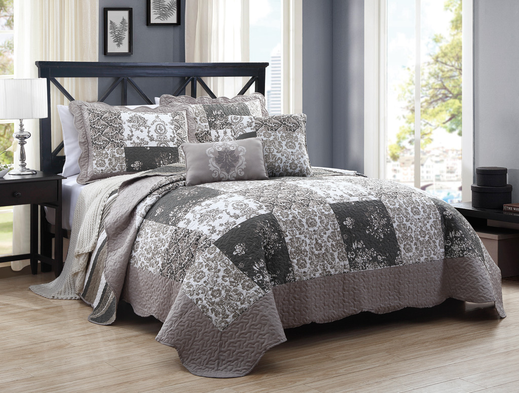 ease set king with quilt mateo and gray l comforter style bedding silver quilts piece wq