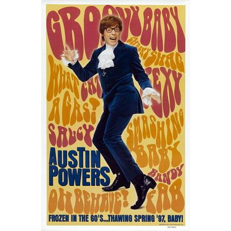 Austin Powers: International Man of Mystery (1997) 27x40 Movie Poster - The Belmont Austin Halloween