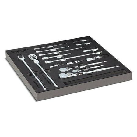 Powerbuilt Pro Tech 16 Pc. Ratchets & Socket Drive Tool Accessories Set -