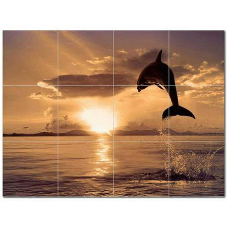 Dolphin Ceramic Tile Mural Kitchen Backsplash Bathroom Shower 402786 M