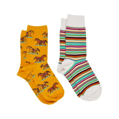 Women's Horses & Stripes Socks Size 9-11