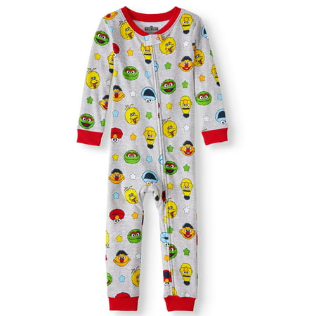 Cotton Sleeper Pajamas - Sesame Street Baby and toddler boys' cotton footless pajama sleeper