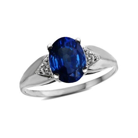 Star K Oval 9x7 Created Sapphire trillion miracle setting wide band Ring