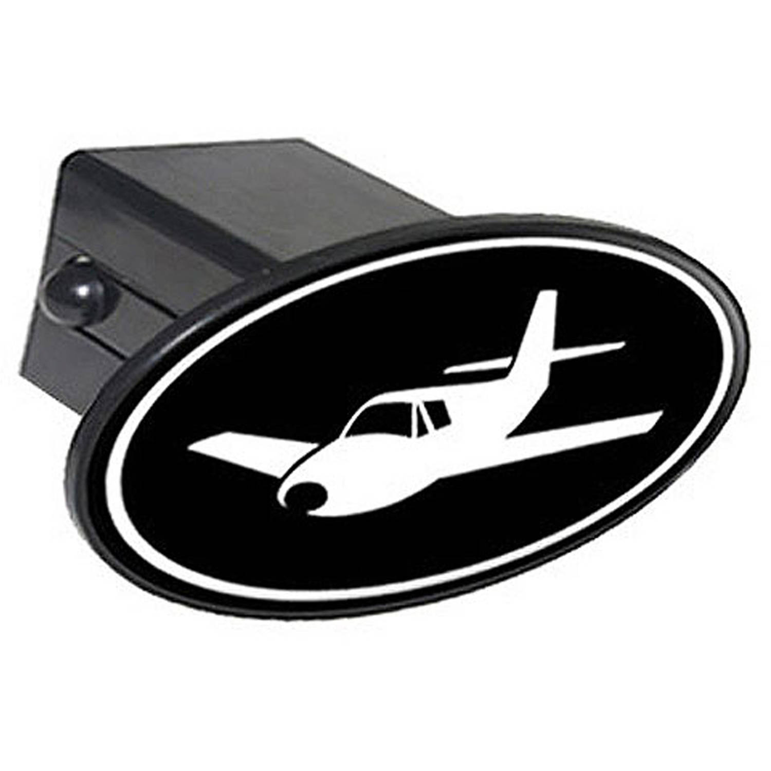 Graphics and More Airplane Tow Trailer Hitch Cover Plug Insert 2