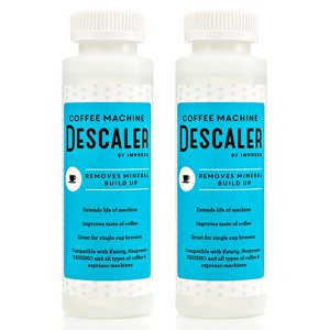 Keurig Descaler (2 Pack) Universal Descaling Solution for Nespresso, all single use Coffee Espresso Machines - Made in USA - 2 Uses Per Bottle