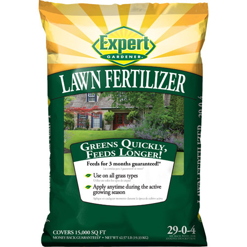 Expert Gardener 15,000 sq ft Lawn Fertilizer (29-0-4), 42.57 lbs