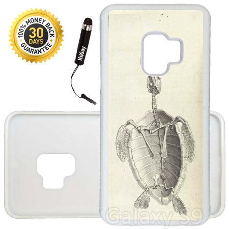 - Custom Galaxy S9 Case (Skeleton Study Sea Turtle) Edge-to-Edge Rubber White Cover Ultra Slim | Lightweight | Includes Stylus Pen by Innosub
