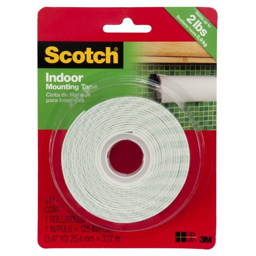 Scotch Indoor Mounting Tape, 1 in X 125 in, 1 Roll/Pack