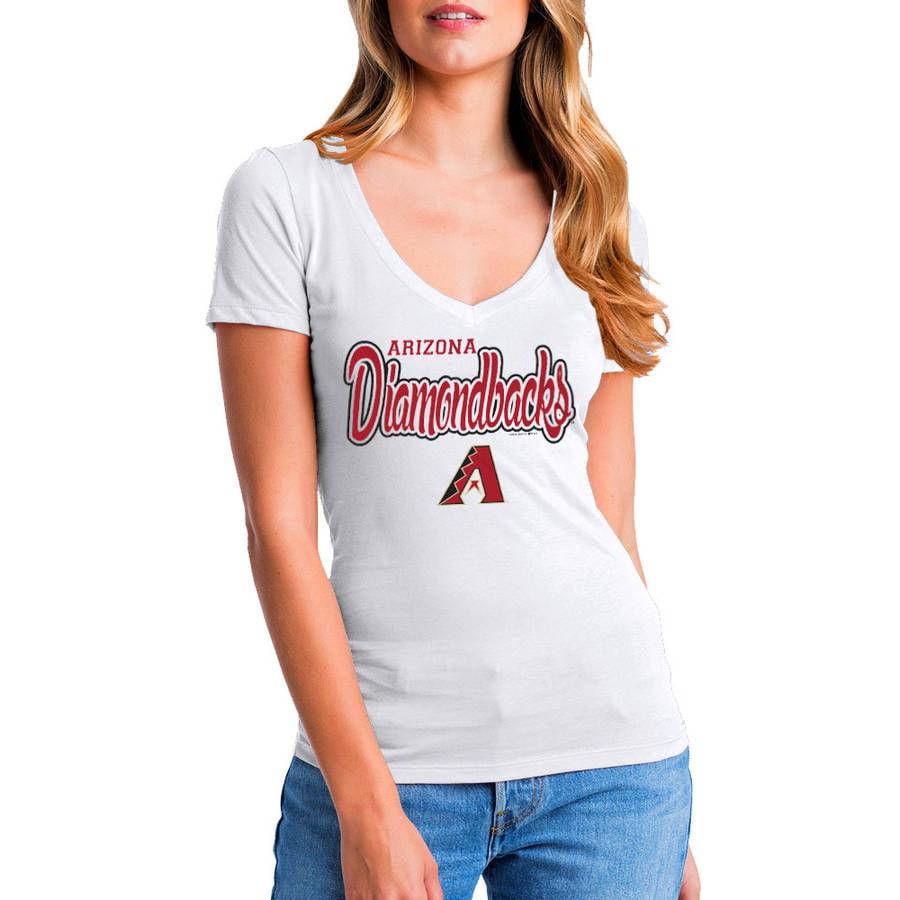 MLB Arizona Diamondbacks Women's Short Sleeve White Graphic Tee