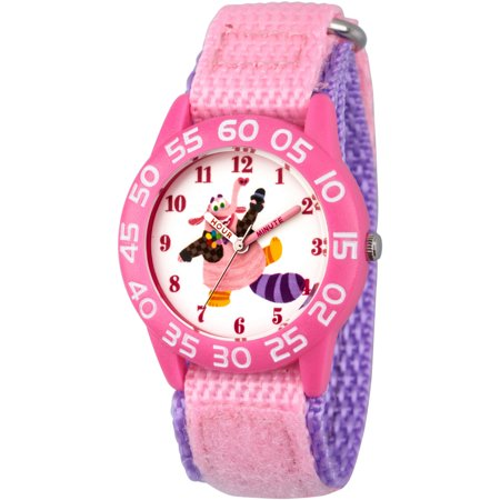 Disney Inside Out Bing Bong Girls' Pink Plastic Time Teacher Watch, Pink Hook and Loop Nylon Strap with Purple - Pink Out Ideas
