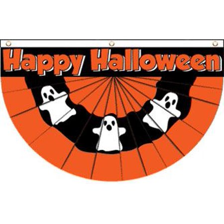 Ghost (Bunting) 5x3' Poly Flag - Halloween Bunting Flags