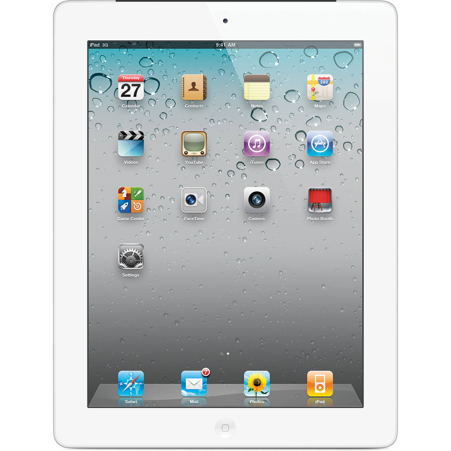 "Refurbished Apple iPad 2 9.7"" LED IPS 16GB WiFi Tablet 1GHz Dual Core Dual"